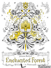 Enchanted Forest: 12 Colour-in Notecards -