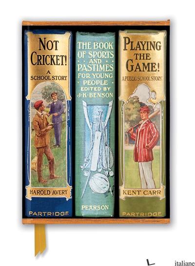 Luxury Journal Bodleian: Books Spines Boys Sports (FTNB 250) - Flame Tree