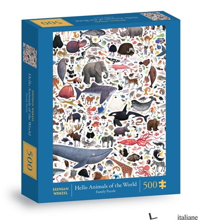 Hello Animals of the World 500-Piece Family Puzzle - CHRONICLE