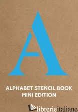 Alphabet Stencil Book mini edition (blue) -