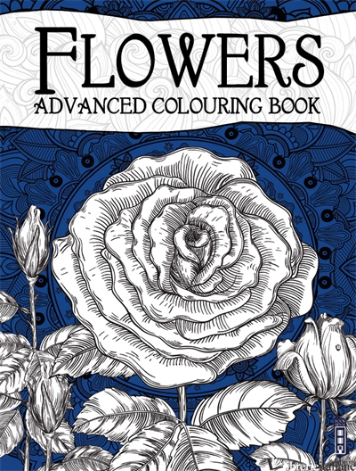 ADVANCED COLOURING BOOKS: FLOWERS -
