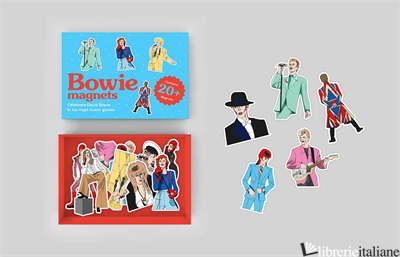 Bowie magnets - illustrated by Niki Fisher
