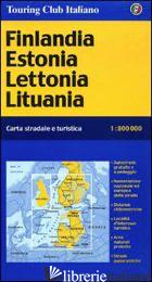 FINLANDIA, ESTONIA, LETTONIA, LITUANIA 1:800.000 - AAVV