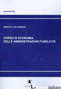 CORSO DI ECONOMIA DELLE AMMINISTRAZIONI PUBBLICHE - DE DOMINICIS ANGELO R.