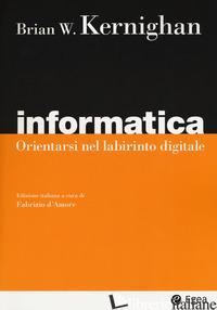 INFORMATICA. ORIENTARSI NEL LABIRINTO DIGITALE - KERNIGHAN BRIAN W.; D'AMORE F. (CUR.)