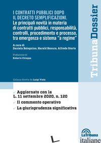 CONTRATTI PUBBLICI DOPO IL DECRETO SEMPLIFICAZIONI (I) - BOLOGNINO D. (CUR.); BONURA H. (CUR.); STORTO A. (CUR.)