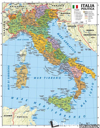 ITALIA 1.100.000. CARTA MURALE SCOLASTICA FISICO/POLITICA CON ASTE - GLOBAL MAP S.R.L.