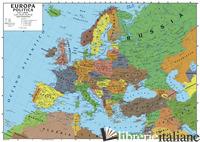EUROPA 1:5.1500.000 (CARTA MURALE SCOLASTICA FISICO/POLITICA CON ASTA). EDIZ. PE - GLOBAL MAP S.R.L.