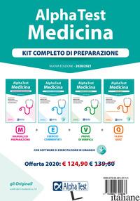 ALPHA TEST. MEDICINA. KIT COMPLETO DI PREPARAZIONE: MANUALE DI PREPARAZIONE-ESER - AA.VV.