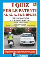 NUOVI QUIZ PER LE PATENTI A1, A2, A, B1, B, B96, BE. EDIZ. ILLUSTRATA (I) - PELUSO A. (CUR.); VANTAGGIATO M. (CUR.); VARDE' A. B. (CUR.)