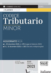 CODICE TRIBUTARIO - GALLO S. (CUR.)