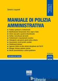 MANUALE DI POLIZIA AMMINISTRATIVA - LINGUANTI SAVERIO