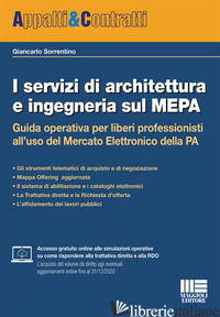 SERVIZI DI ARCHITETTURA E INGEGNERIA SUL MEPA (I) - SORRENTINO GIANCARLO