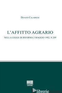 AFFITTO AGRARIO (L') - CALABRESE DONATO