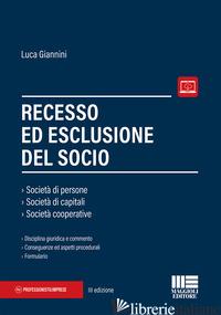 RECESSO ED ESCLUSIONE DEL SOCIO - GIANNINI LUCA