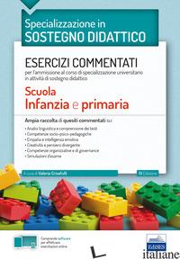 SPECIALIZZAZIONE IN SOSTEGNO DIDATTICO. ESERCIZI COMMENTATI PER L'AMMISSIONE AL  - CRISAFULLI V. (CUR.)