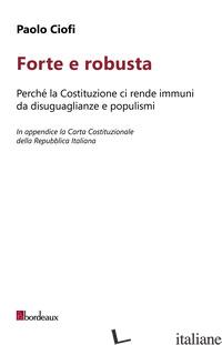 FORTE E ROBUSTA - CIOFI PAOLO