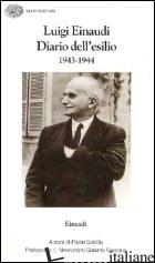 DIARIO DELL'ESILIO (1943-1944) - EINAUDI LUIGI; SODDU P. (CUR.)