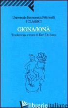 GIONA/IONA' - DE LUCA E. (CUR.)