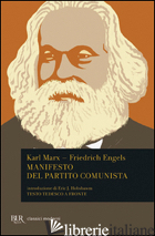 MANIFESTO DEL PARTITO COMUNISTA. TESTO TEDESCO A FRONTE - MARX KARL; ENGELS FRIEDRICH
