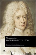 SPIRITO DELLE LEGGI (LO) - MONTESQUIEU CHARLES L. DE