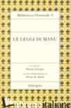 LEGGI DI MANU (LE) - DONIGER W. (CUR.)