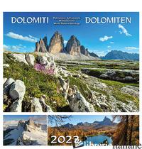 DOLOMITI-DOLOMITEN 2022. POSTKARTENKALENDER/CALENDARIO CARTOLINE DA TAVOLO - MALFERTHEINER PETER