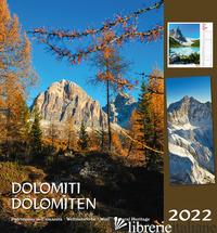 DOLOMITI-DOLOMITEN 2022. POSTKARTENKALENDER HF/CALENDARIO CARTOLINE DA TAVOLO VE - MALFERTHEINER PETER