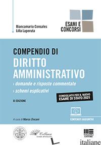 COMPENDIO DI DIRITTO AMMINISTRATIVO - CONSALES BIANCAMARIA; LAPERUTA LILLA