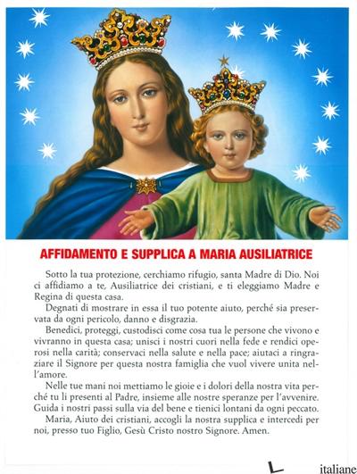 MARIA AUSILIATRICE AFFIDAMENTO POSTER CM.18X24 -