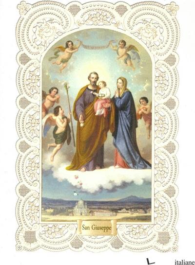 SAN GIUSEPPE - SANTINO MERLETTATO CM.7X10.5 -