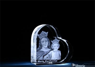 MARIA AUSILIATRICE CRISTALLO CUORE MEDIO MM.70X70X35 -