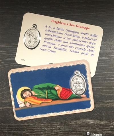S.GIUSEPPE DORMIENTE - CARD PVC CM.5,4X8,5 CON MEDAGLIA -