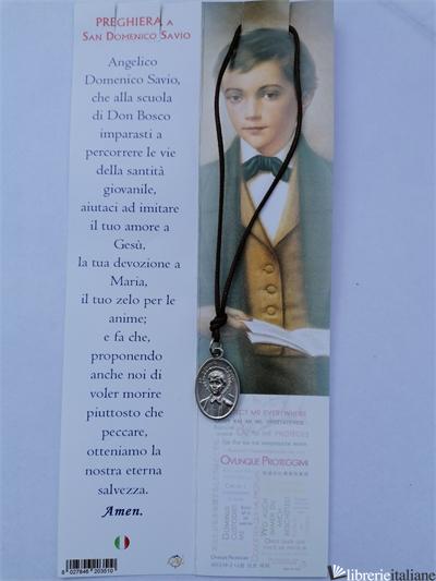 S.DOMENICO SAVIO SEGNALIBRO CON COLLANA CM.2,5X1,5 -