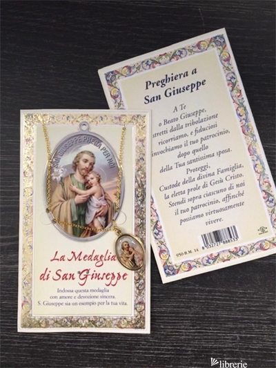 S.GIUSEPPE BIGLIETTO CON MEDAGLIA -