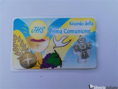COMUNIONE HOLY CARD CON CROCETTA -