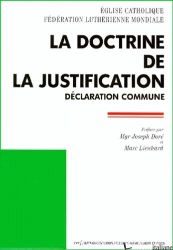 DOCTRINE DE LA JUSTIFICATION - AAVV