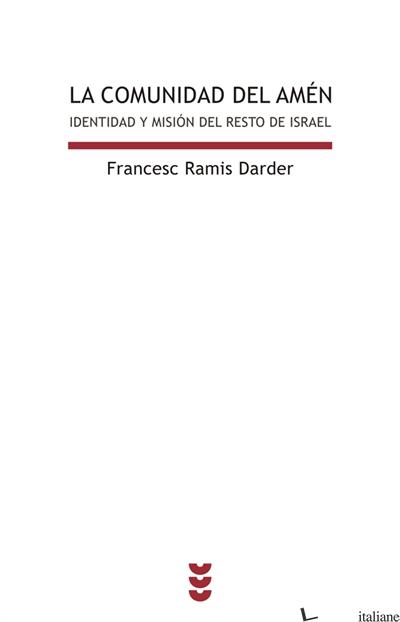 COMUNIDAD DEL AMEN - RAMIS DARDER FRANCESC