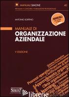 MANUALE DI ORGANIZZAZIONE AZIENDALE - SORTINO ANTONIO