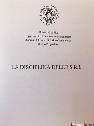 LA DISCIPLINA DELLE S.R.L. 2020-2021 - CALVOSA LUCIA