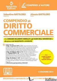 COMPENDIO DI DIRITTO COMMERCIALE. NUOVA EDIZ. - BATTILORO VALENTINO; BATTILORO ALESSIO