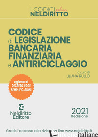 CODICE BANCARIO - RULLO LILIANA
