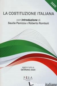 COSTITUZIONE ITALIANA. AGGIORNATA A GENNAIO 2020 (LA) - PANIZZA S.; ROMBOLI R.