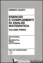 ESERCIZI E COMPLEMENTI DI ANALISI MATEMATICA. VOL. 2 - GIUSTI ENRICO