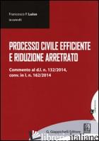 PROCESSO CIVILE EFFICIENTE E RIDUZIONE ARRETRATO - LUISO F. P. (CUR.)
