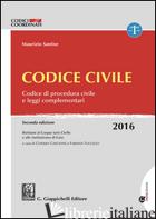 CODICE CIVILE. CODICE DI PROCEDURA CIVILE E LEGGI COMPLEMENTARI. CON AGGIORNAMEN - SANTISE MAURIZIO