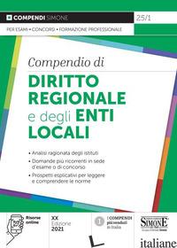 COMPENDIO DI DIRITTO REGIONALE E DEGLI ENTI LOCALI - 25/1
