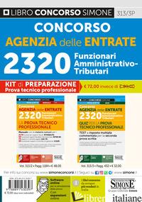 CONCORSO AGENZIA DELLE ENTRATE. 2320 FUNZIONARI AMMINISTRATIVO-TRIBUTARI. PROVA  - 313/3P