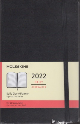 12 MONTHS, DAILY. LARGE, HARD COVER, BLACK -