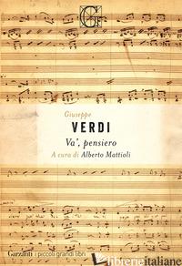 VA', PENSIERO - VERDI GIUSEPPE; MATTIOLI A. (CUR.)